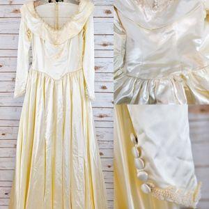 1940s Candlight Satin Wedding Gown